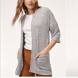 Aritzia Wilfred Free Zlata Open Cardigan Sweater